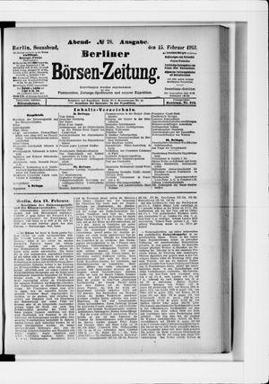 Berliner Börsen-Zeitung vom 15.02.1913
