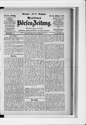Berliner Börsen-Zeitung vom 16.02.1913