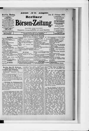 Berliner Börsen-Zeitung vom 17.02.1913