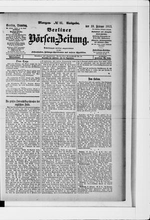 Berliner Börsen-Zeitung vom 18.02.1913