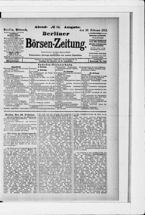 Berliner Börsen-Zeitung vom 19.02.1913