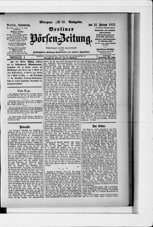 Berliner Börsen-Zeitung vom 22.02.1913