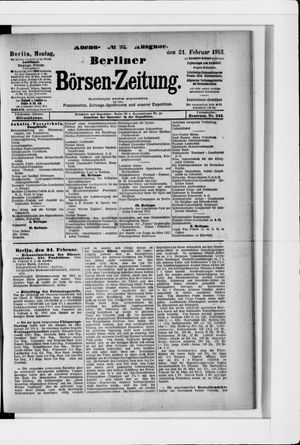 Berliner Börsen-Zeitung vom 24.02.1913
