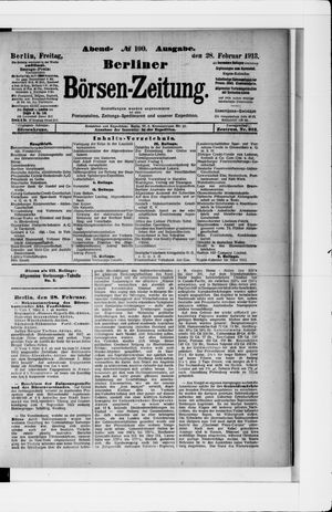 Berliner Börsen-Zeitung vom 28.02.1913