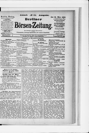 Berliner Börsen-Zeitung vom 14.03.1913