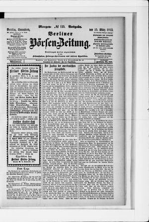 Berliner Börsen-Zeitung vom 15.03.1913