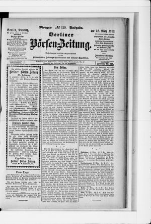 Berliner Börsen-Zeitung vom 18.03.1913