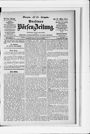 Berliner Börsen-Zeitung vom 21.03.1913