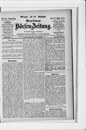 Berliner Börsen-Zeitung vom 27.03.1913