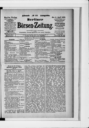Berliner Börsen-Zeitung vom 04.04.1913