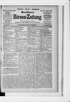 Berliner Börsen-Zeitung vom 10.04.1913