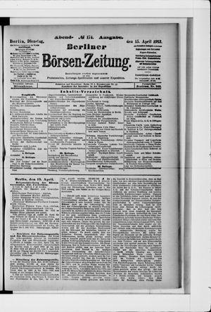 Berliner Börsen-Zeitung vom 15.04.1913