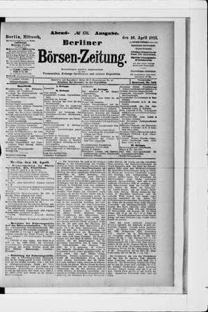 Berliner Börsen-Zeitung vom 16.04.1913
