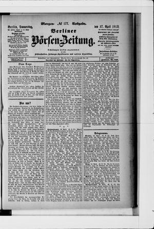 Berliner Börsen-Zeitung vom 17.04.1913