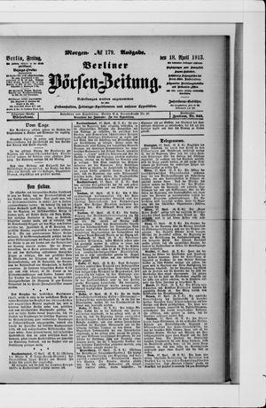 Berliner Börsen-Zeitung vom 18.04.1913
