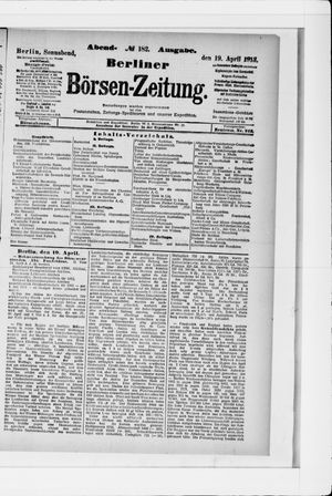 Berliner Börsen-Zeitung vom 19.04.1913