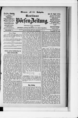 Berliner Börsen-Zeitung vom 20.04.1913