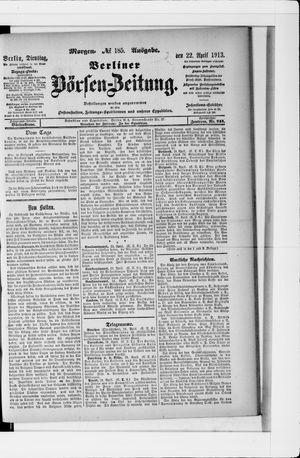 Berliner Börsen-Zeitung vom 22.04.1913