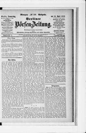Berliner Börsen-Zeitung vom 24.04.1913