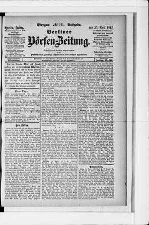 Berliner Börsen-Zeitung vom 25.04.1913