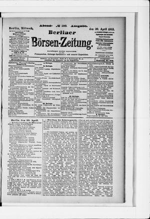 Berliner Börsen-Zeitung vom 30.04.1913