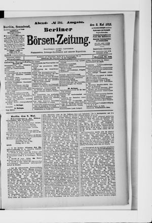 Berliner Börsen-Zeitung vom 03.05.1913