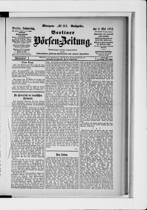 Berliner Börsen-Zeitung vom 08.05.1913