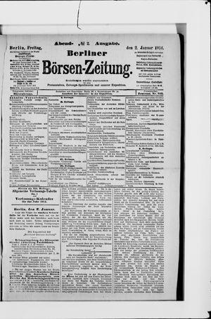 Berliner Börsen-Zeitung vom 02.01.1914