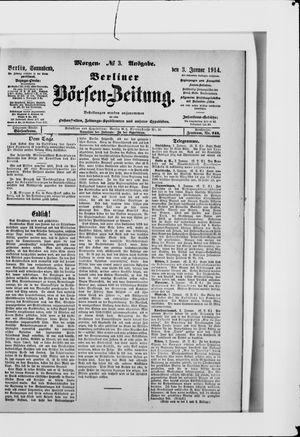 Berliner Börsen-Zeitung vom 03.01.1914