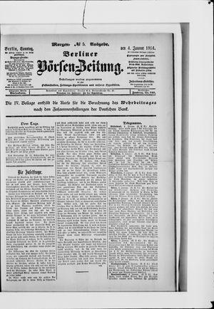 Berliner Börsen-Zeitung vom 04.01.1914