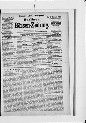 Berliner Börsen-Zeitung vom 05.01.1914