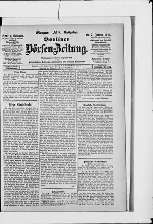 Berliner Börsen-Zeitung vom 07.01.1914