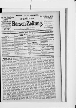 Berliner Börsen-Zeitung vom 10.01.1914
