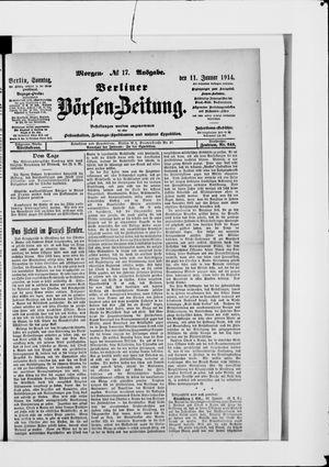 Berliner Börsen-Zeitung vom 11.01.1914