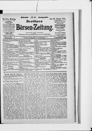 Berliner Börsen-Zeitung vom 12.01.1914