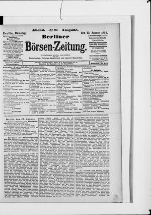 Berliner Börsen-Zeitung vom 13.01.1914