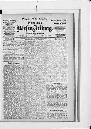 Berliner Börsen-Zeitung on Jan 14, 1914