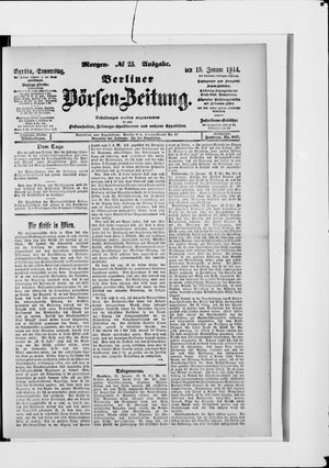 Berliner Börsen-Zeitung vom 15.01.1914
