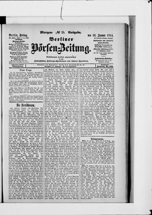 Berliner Börsen-Zeitung vom 16.01.1914