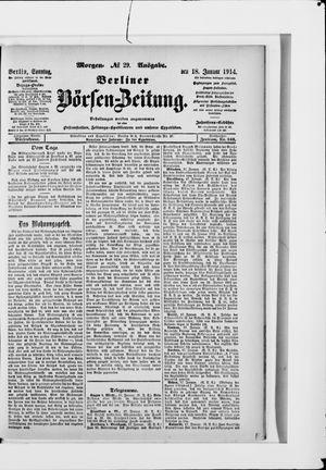Berliner Börsen-Zeitung vom 18.01.1914