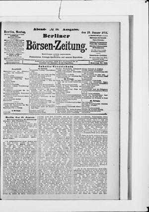 Berliner Börsen-Zeitung vom 19.01.1914