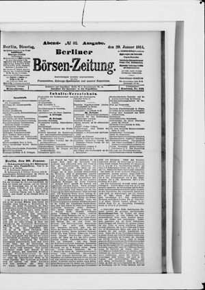 Berliner Börsen-Zeitung vom 20.01.1914