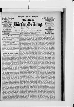 Berliner Börsen-Zeitung vom 24.01.1914