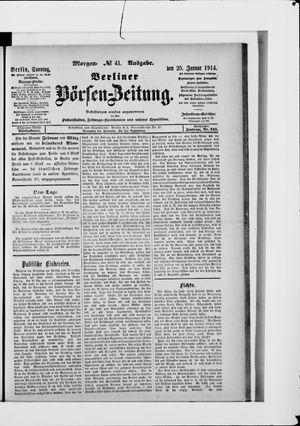 Berliner Börsen-Zeitung vom 25.01.1914