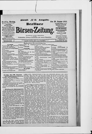 Berliner Börsen-Zeitung vom 26.01.1914