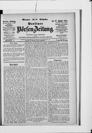 Berliner Börsen-Zeitung vom 27.01.1914