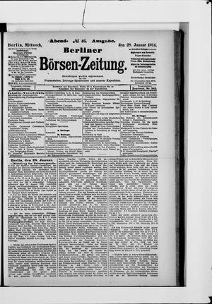 Berliner Börsen-Zeitung vom 28.01.1914