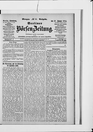 Berliner Börsen-Zeitung vom 31.01.1914