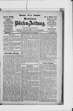 Berliner Börsen-Zeitung vom 01.02.1914