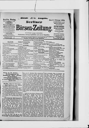 Berliner Börsen-Zeitung vom 02.02.1914
